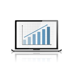 Graph in laptop vector