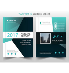 Green black abstract annual report brochure vector