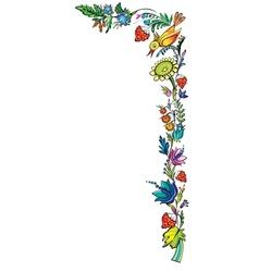 Ukrainian national floral ornament vector image