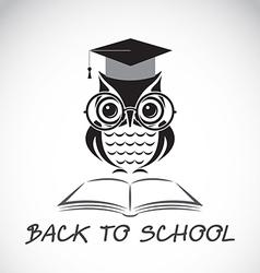 Owl school vector image