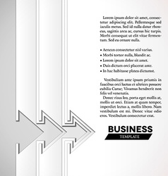 White arrows business template with paper layers vector image