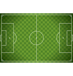 Soccer field checkered background vector