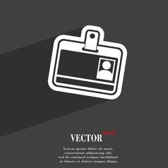 Id card icon symbol flat modern web design with vector