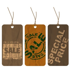 paper tags vector image