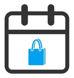 Shopping day icon vector