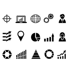 black business infographic icons set vector image