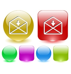 Mail down arrow vector