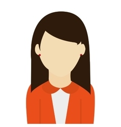 Caucasian woman straight brown hair vector