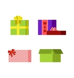 Gift open box icon vector