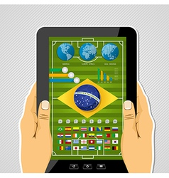 Brazil soccer championship tablet infographic vector image vector image