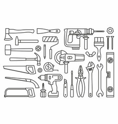 building tools icons vector image