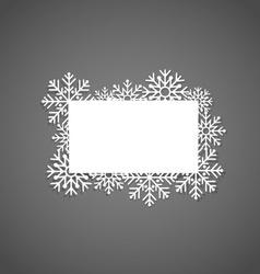 Christmas Greeting Card with snowflakes vector image