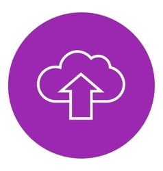 Cloud with arrow up line icon vector