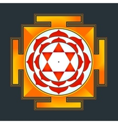 colored Bhuvaneshwari yantra vector image