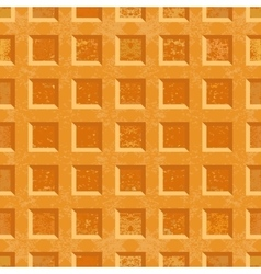Crispy belgian waffles seamless texture vector
