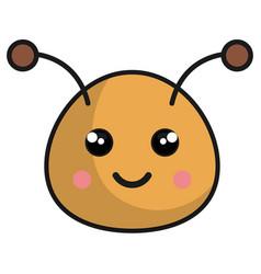 Cute bee kawaii style vector