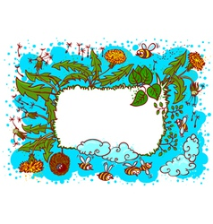 cute landscape summer vector image vector image