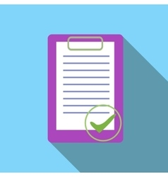 Document is ready icon flat style vector