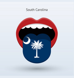electoral vote of south carolina abstract mouth vector image vector image