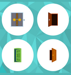 flat icon approach set of entry frame approach vector image