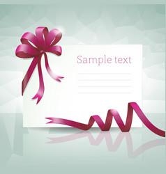 gift car with ribbon vector image