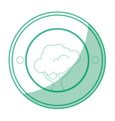 isolated tree round icon vector image vector image