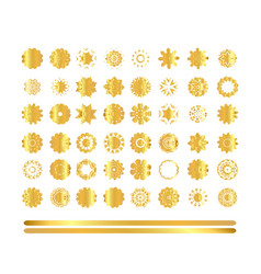 oriental gold pattern vector image vector image