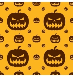 Pumpkin for halloween seamless pattern vector