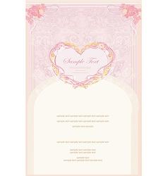 romantic vintage invitation vector image vector image