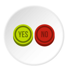 Round signs yes and no icon circle vector