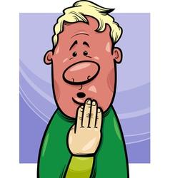 Shy man concept cartoon vector