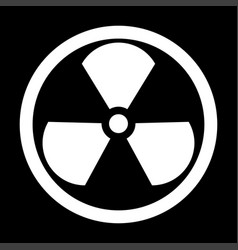 Sign radioactive the white color icon vector