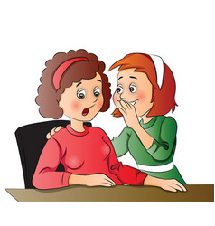 women gossiping at office vector image vector image