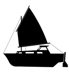 Sailing boat floating vector