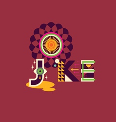 Joke art poster vector