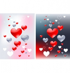 abstract hearts backgrounds vector image