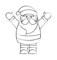 cute santa claus avatar character vector image