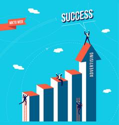 Marketing web business team success concept vector