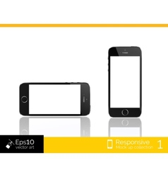 Modern smart phone isolation vector