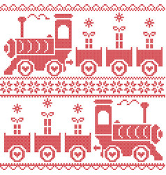 Scandinavian christmas nordic seamless pattern vector