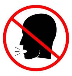 No talk zone vector