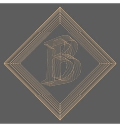 Letter b fonts of mesh vector
