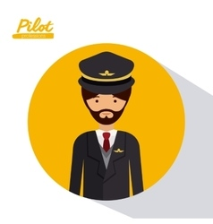 Pilot professional design vector