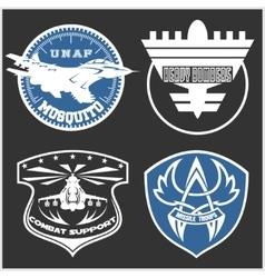 Air force military emblem set design vector