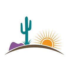 arizona desert vector image vector image