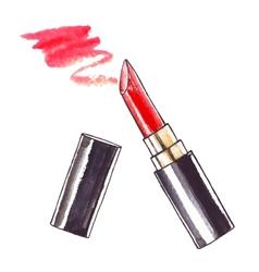 Beautiful Watercolor Lipstick vector image