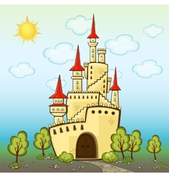 Castle in cartoon style vector image vector image