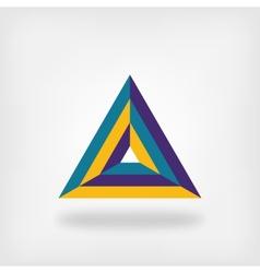 colored triangle logo symbol vector image vector image