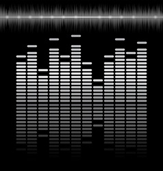 Equalizer bar with reflection and sound chart vector image