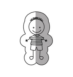 Figure funny boy icon vector